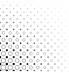 Black and white circle pattern - abstract vector