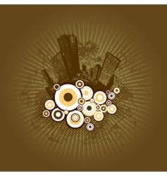 city with circles vector image vector image