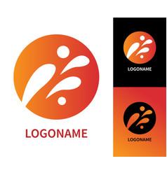design modern art logo vector image vector image