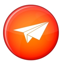 Paper plane icon flat style vector image vector image