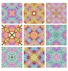 Set of retro seamless patterns of geometric shapes vector image vector image