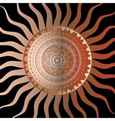 Sun Vintage background vector image