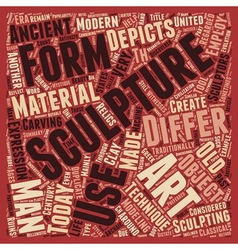 The Beauty And Mystique Of Fine Sculptures text vector image vector image