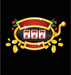 vintage slot machine vector image vector image