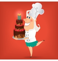 Cartoon Lady Chef vector image