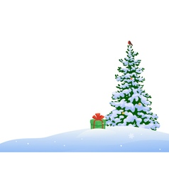 Christmas tree border vector image vector image
