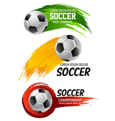 icons for soccer club football championship vector image vector image