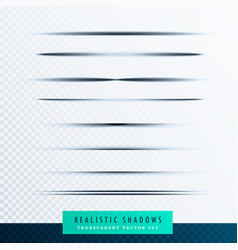 Paper shadows collection background vector