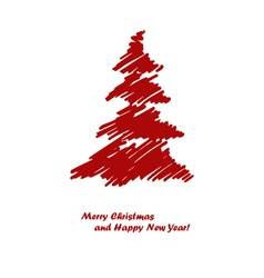red spruce vector image