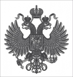 Russian eagle vector image