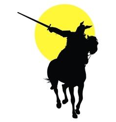 Viking horseman vector image vector image