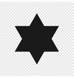 6 point classic star vector image