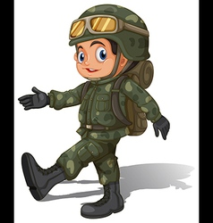 A young soldier vector
