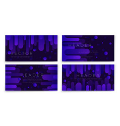 abstract banners set with violet flow vector image