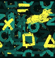 abstract symbols color creative hand drawn vector image