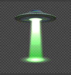 Aliens spaceship ufo lights 3d space object vector