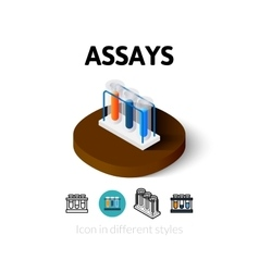 Assays icon in different style vector