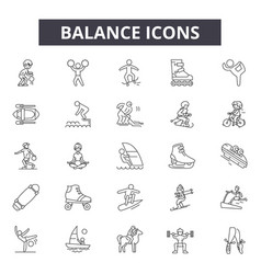 balance line icons for web and mobile design vector image