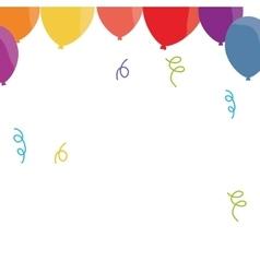 Balloon confetti decoration party funny vector