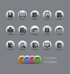 Books Icons Pearly Series vector image