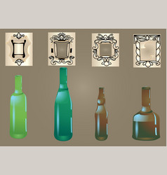 Bottle and label vector