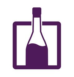 bottle wine drink alcohol image label vector image
