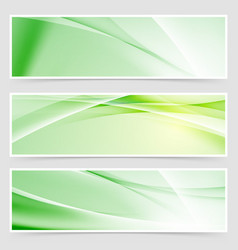 Bright ecological web header collection vector