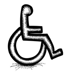 Cartoon image of handicap icon accessibility vector