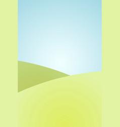 cartoon landscape summer grass field background vector image