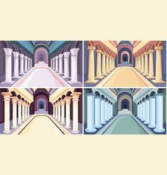 Collection castle interiors vector