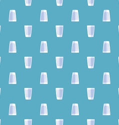 Colored shot glass seamless pattern vector