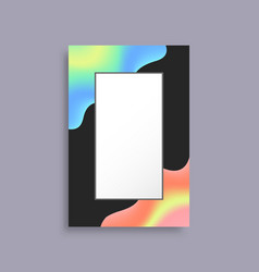 colorful empty frame for photo with bright blots vector image