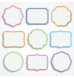 Colorful note paper shapes vector image