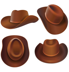 Cowboy leather hats vector
