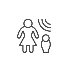 domestic violence line outline icon vector image