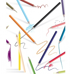 drawing pencils vector image