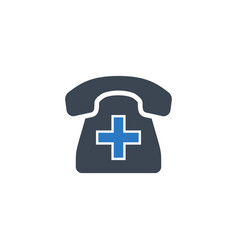 emergency phone related glyph icon vector image