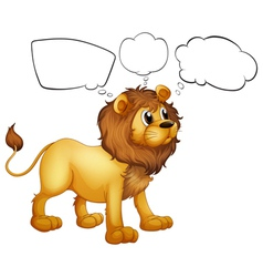 Empty thoughts of a scary lion vector image vector image