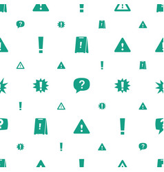 Exclamation icons pattern seamless white vector