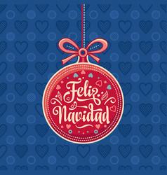 feliz navidad greeting card in spain vector image