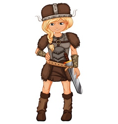 Female viking vector