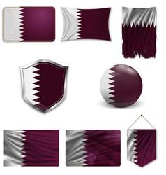 flag qatar vector image