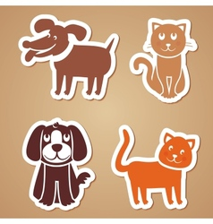 funny dogs and cats vector image