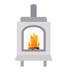 Furnace flat on white vector