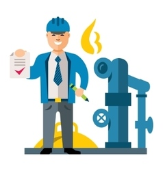 Gas Manager Flat style colorful Cartoon vector image