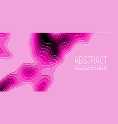 geometric paper cut background topography map vector image