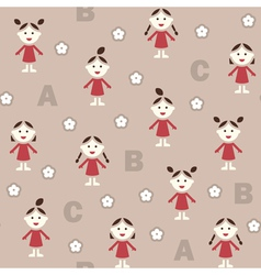 Girl and ABC vector image