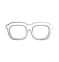 glasses accessory fashion trendy optical element vector image