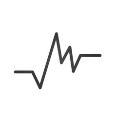 gray irregular heartbeat icon heartbeat sign or vector image