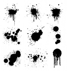 grunge splash vector image